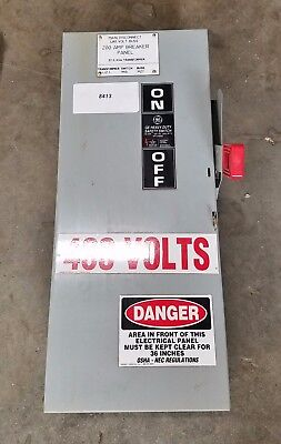 GE TH3363 Heavy Duty Safety Switch 75 AMP  Model 10 #8413
