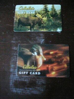 Lot Of Two Collectible Only Cabelas Gift Cards No Value Lot 10