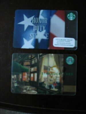 Lot Of Two Collectible Only Starbucks Gift Cards No Value Lot 9