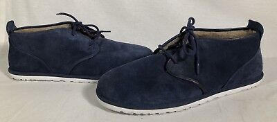 e2e4afded9c UGG AUSTRALIA MAKSIM Blue Suede Chukka Boot (1016680) Men's Size 18