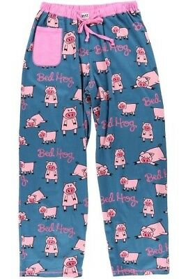 "Lazy One Women's 100% Cotton Pajama Pant Bottoms - ""BED HOG"" - Brand NEW"
