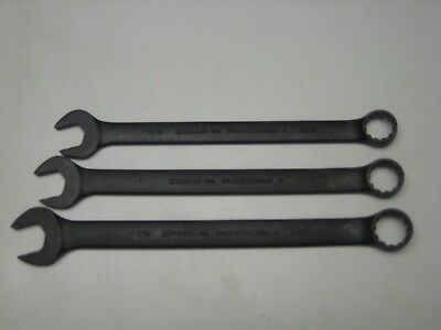 """PROTO PROFESSIONAL WRENCHES 15/16"""" 1"""" 1-1/16"""" Combination wrenches 12pt 1234 ++"""