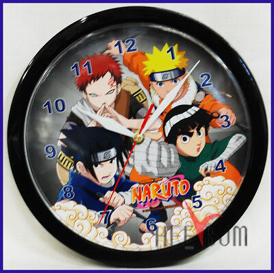 Naruto Wall Clock Decor Collector Naruto Shonen Jump Round Watch