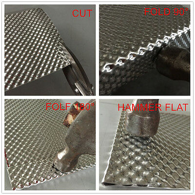EMBOSSED HEAT SHIELD G1 GI LITE MATERIAL 2.54mm ALUMINIUM 500mm x 300mm NEW