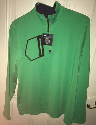 NWT $125.00 RLX Ralph Lauren Golf Mens Tech Pullover Barbados Green Size Large