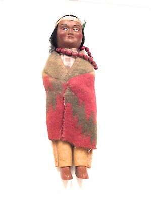 "Vintage Skookum Native American Indian Doll ""Bully Good"" 10 1/2 Inch Doll"