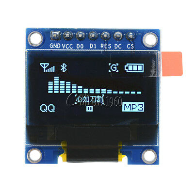 """Blue 0.96"""" SPI Serial 128X64 OLED LCD LED Display Module for Arduino"""