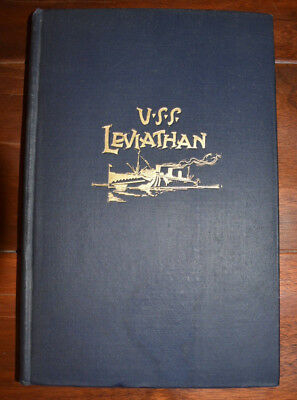 Vintage 1900s History of The USS Leviathan With Roster Book Navy USN Nice Shape