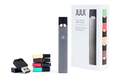 New Juul-Device + Charger - Starter Kit Includes 4 Flavor Pods-100%authentic