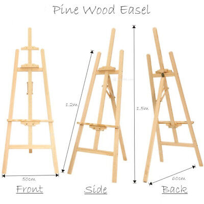 Artistic Pine Wood Easel Stand Poster Stand Decoration Menu Painting Display