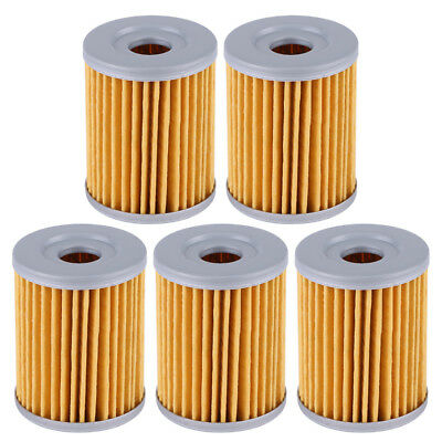 Hot 5Pcs Oil Filter for Suzuki DRZ125 DR200SE RV125 LTZ250 LTF250 Ozark AN250 BT