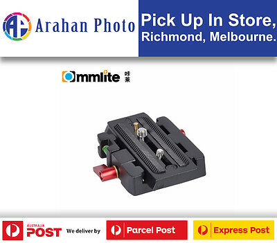 """Commlite1/4"""" and 3/8""""Screws Quick Release Plate for Manfrotto Tripod Head"""