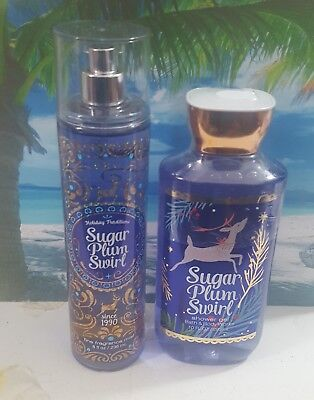bath and body works sugar plum swirl shower gel and fine fragrance mist