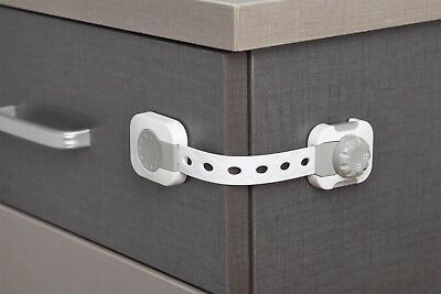 Adjustable 6 x Adhesive Kid Baby Safety lock-Drawer Door, Cupboard, Cabinet lock
