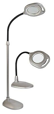 OttLite 2 in 1 LED Mag Floor & Table Lamps 30 Super Bright Natural Daylight New
