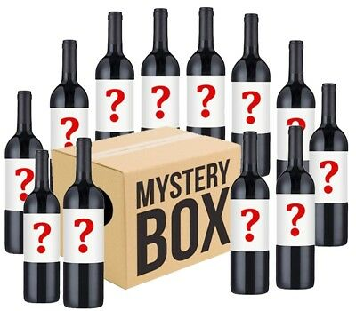 Australian Mystery Labelled Red Wine Mixed 12x750ml RRP$179 Free Shipping
