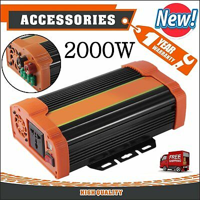 NEW Car 2000W / 3000W Converter Power Inverter DC 12V to AC 220V - 240V USB LK