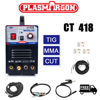 CT312 220V 120A Inverter ARC Welder + Plasma Cutter tig Welding Machine & torch