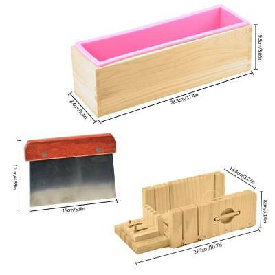 DIY Loaf Soap Mold Set Wooden Box Soap Cutter With Stainless Steel Blade Tools