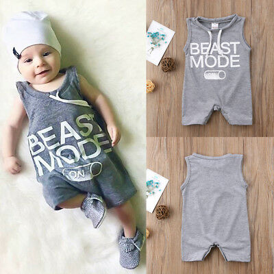4a62c2bc31d3 Newborn Baby Toddler Boy Girl Bodysuit Romper Jumpsuit Outfits Summer  Clothes