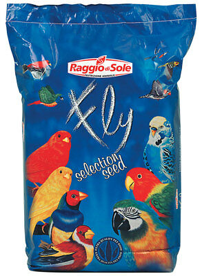Fly Canary Seed Extra Scagliola Canadese 25 Kg Alimento Canarini Cardellini