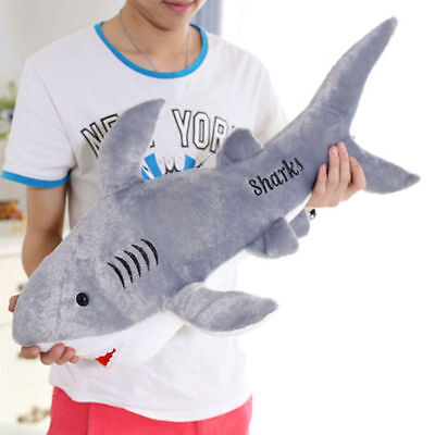 Big Shark Soft Toy Stuffed Cushion Large Plush Toys Doll Pillow Birthday 45cm