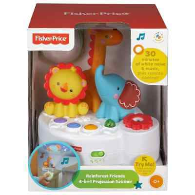 Fisher Price Rainforest Friends Remote Control 4-in-1 Musical Projection Soother
