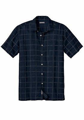 Eddie Bauer Men's Shirt Checked Canvas xl xxl xxxl checkered short sleeve