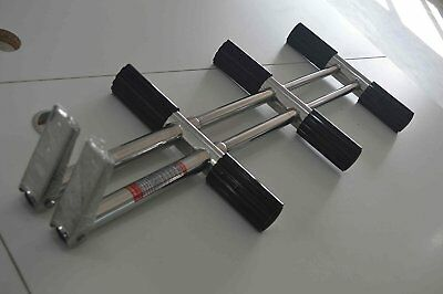 Dive Ladder with Bracket 3 Step Stainless Transom Diving Boat Boarding Mounting