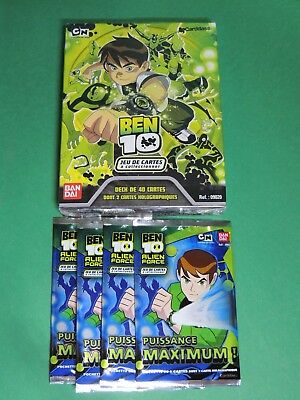 Lot Deck + 4 booster - paquet de 6 cartes trading card - Ben ten 10 - Bandai