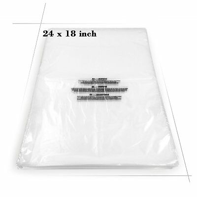 "Becko Self Seal Clear Flat Poly Bags for Storing - 18""x24"" - 100 Packs"