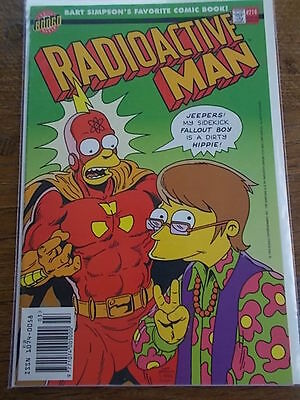 BONGO Group Comics BART SIMPSONS favourite Comic Magazine RADIOACTIVE MAN #216