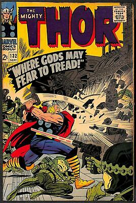 Thor #132 (1966) 1st Appearance Of Ego The Living Planet VG+