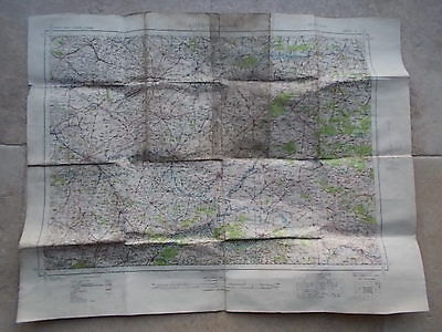 RARE War Office 1937 AMIENS MONS France NW Europe ORDNANCE SURVEY cloth MAP