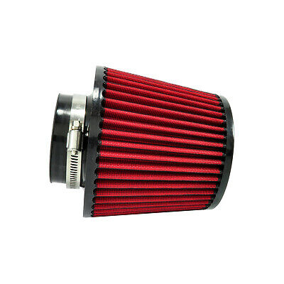 Universal Sport Luftfilter 76mm Rot 165mm Lang Konisch Cold Air Intake Tuning
