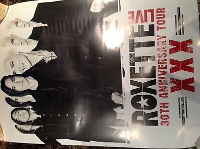 roxette official poster 30th anniversary tour merchandise music