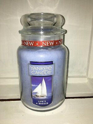 Yankee Candle 22oz 623g Large Jar Lifes a Breeze RARE Deerfield White Label