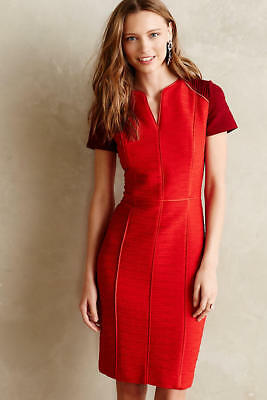1eee79e2504 NEW ANTHROPOLOGIE EUNOIA Red Pencil Dress By Maeve Size 14 Size L ...
