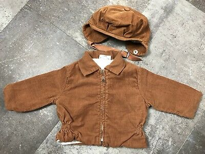 Vintage Toddler Clothing Danny Dare Brown Corduroy Jacket with Marchand Hat 12M