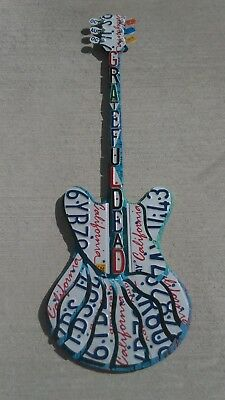 Grateful Dead license plate guitar wall art made with real California plates