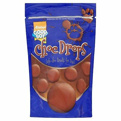 DOG CHOC DROPS 250g GOOD BOY SAFE Chocolate Treat Buttons For Your Dog