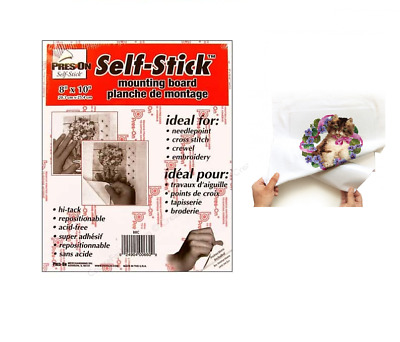 SELF STICK Adhesive Backed Mounting Board for Cross Stitch Needlework 8 x 10