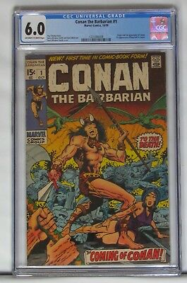 Conan the Barbarian 1 CGC 6.0 (Marvel 1970) 1st Appearance Free S&H