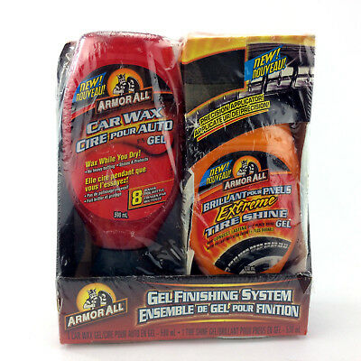 Armor All Car Wax System Kit Gel Finishing System Tire Shine Wax While You Dry