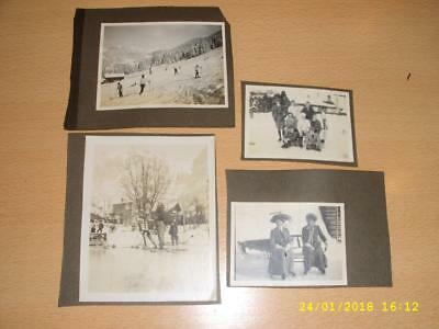 Winter Sport - Snow, Ski, Curling, Skating Etc - Collection Of Old Photographss