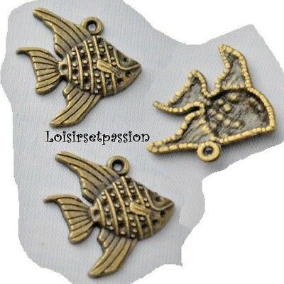 BRELOQUE CIGALE INSECTE Bronze 16 x 28 mm LOT de 2 CHARM 407 PENDENTIF