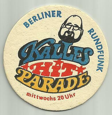 Radio Berliner Rundfunk, East Germany beer mat coaster 1980's