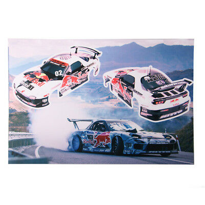 FWD044 Red of Bull MadMike Formula Drift Decals Set for 1/10 rc on road car