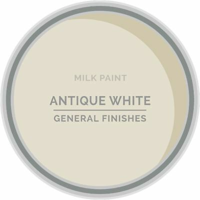 General Finishes Water Based Milk Paint, 1 Pint, Antique White