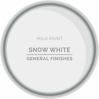 General Finishes Water Based Milk Paint, 1 Pint, Snow White
